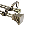 This item: Trumpet Antique Brass 66 to 120-Inch Double Curtain Rod