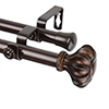 This item: Flair Cocoa 48 to 84-Inch Double Curtain Rod