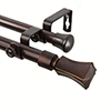 This item: Fort Cocoa 66 to 120-Inch Double Curtain Rod