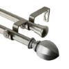 This item: Garnet Satin Nickel 28 to 48-Inch Double Curtain Rod