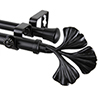 This item: Fortune Black 48 to 84-Inch Double Curtain Rod