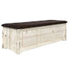 This item: Montana Natural Large Blanket Chest with Saddle Upholstery