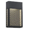This item: Metro Black And Gold 8-Inch Led Outdoor Wall Sconce
