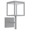 This item: Reveal Satin Gray 7-Inch Led Outdoor Square Wall Sconce With Clear Glass