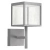 This item: Reveal Satin Gray 7-Inch Led Outdoor Square Wall Sconce With Seeded Glass