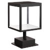 This item: Reveal Black 7-Inch Led Outdoor Square Pier Mount With Clear Glass