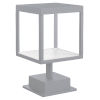 This item: Reveal Satin Gray 7-Inch Led Outdoor Square Pier Mount With Clear Glass