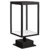 This item: Reveal Black 7-Inch Led Outdoor Rectangular Pier Mount With Clear Glass