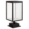 This item: Reveal Black 7-Inch Led Outdoor Pier Mount