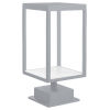 This item: Reveal Satin Gray 7-Inch Led Outdoor Rectangular Pier Mount With Clear Glass