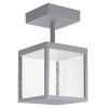 This item: Reveal Satin Gray 7-Inch Led Outdoor Semi Flush Mount