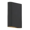 This item: Lux Black 6-Inch Led Bi-Directional Wall Sconce
