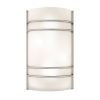 This item: Artemis Brushed Steel 8-Inch Two-Light Led Wall Sconce