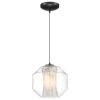 This item: I-Biza Black One-Light Globe Mini Pendant