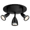 This item: Cobra Black 10-Inch Three-Light Directional Spotlight