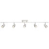 This item: Lincoln Brushed Steel Five-Light LED Track Light