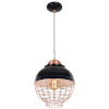 This item: Dive Shiny Black and Copper 12-Inch LED Pendant