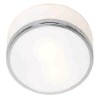 This item: Aero Polished Chrome One-Light Flush Mount with Opal Glass