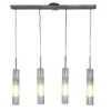 This item: Dezi Brushed Steel Four-Light 36-Inch Wide Fluorescent Island Pendant