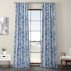 This item: Blue Printed 96 x 50-Inch Polyester Blackout Curtain Single Panel