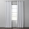 This item: White Italian Textured Faux Linen Hotel Blackout Grommet Curtain Single Panel