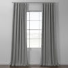 This item: Pebble Grey Italian Textured Faux Linen Hotel Blackout Curtain Single Panel