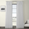 This item: White Solid Cotton Tie-Top Curtain Single Panel