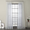 This item: Blue Patterned Linen Sheer Curtain Single Panel