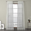 This item: White Embroidered Sheer Curtain Single Panel