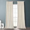 This item: Sandalwood Beige 84-Inch Plush Velvet Hotel Blackout Curtain Single Panel