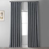 This item: Signature Global Grey 50 in W x 108 in H Faux Linen Blackout Single Panel Curtain