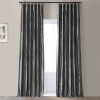 This item: Signature Tablet Grey 50 in W x 96 in H Faux Silk Taffeta Hotel Blackout Single Panel Curtain