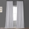 This item: Signature Clever Cream 50 in W x 108 in H Faux Silk Taffeta Hotel Blackout Single Panel Curtain