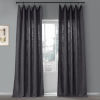 This item: Nightshade Grey 50 in W x 96 in H Pebble Weave Faux Linen Single Panel Curtain