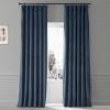This item: Signature Varsity Blue 50 in W x 108 in H Plush Velvet Hotel Blackout Single Panel Curtain
