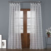 This item: Polaris White Polyester 84 In L x 50 In W Single Panel Curtain