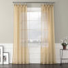 This item: Solid Faux Linen Sheer Gold 50 x 84 In. Curtain Single Panel