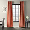This item: Signature Blackout Velvet Burnt Pumpkin 50 x 84-Inch Curtain Single Panel