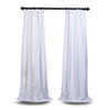 This item: White 84 x 50 In. Blackout Vintage Textured Faux Dupioni Silk Curtain