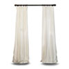 This item: Off White Vintage Textured 108 x 50 In. Faux Dupioni Silk Single Panel Curtain