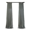 This item: Grey 84 x 50 In. Textured Faux Dupioni Silk Single Panel Curtain