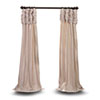 This item: Ruched Beige 84 x 50 In. Faux Silk Taffeta Curtain Single Panel