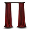This item: Red 84 x 50 In. Blackout Faux Silk Taffeta Curtain Single Panel