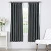 This item: Natural Grey 63 x 50 In. Signature Blackout Velvet Curtain Single Panel