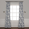 This item: Edina Blue 96 in. x 50 in. Printed Cotton Curtain Panel