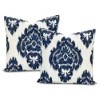 This item: Ikat Blue Printed Cotton Pillow Cover, Set of Two