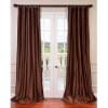 This item: Copper Brown 84 x 50-Inch Blackout Faux Silk Taffeta Curtain Single Panel