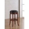 This item: Stella Medium Walnut Backless Counter Stool with Java Bonded Leather Seat