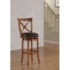 This item: Provence Light Oak Counter Stool with Bourbon Bonded Leather Seat