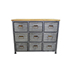 This item: River Station Aged Metal Nine Drawer Chests